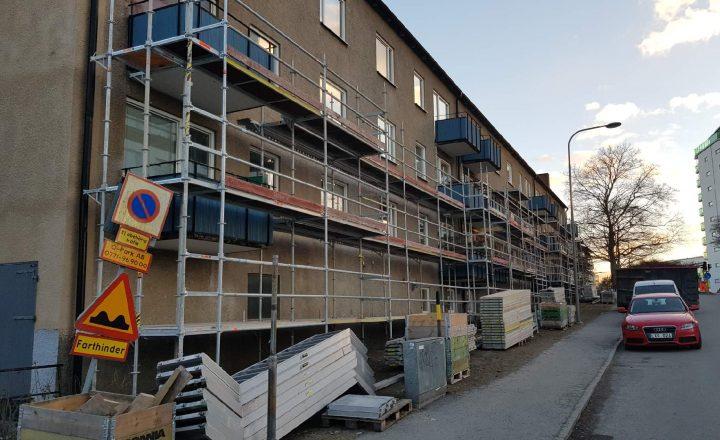 Tidsplan för renovering balkonger och fasad